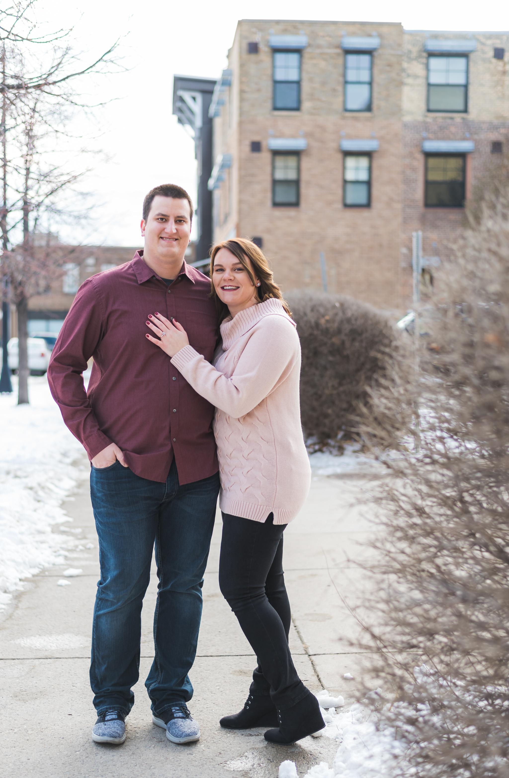 Downtown Fargo Engagement Pictures   Chelsea Joy Photography
