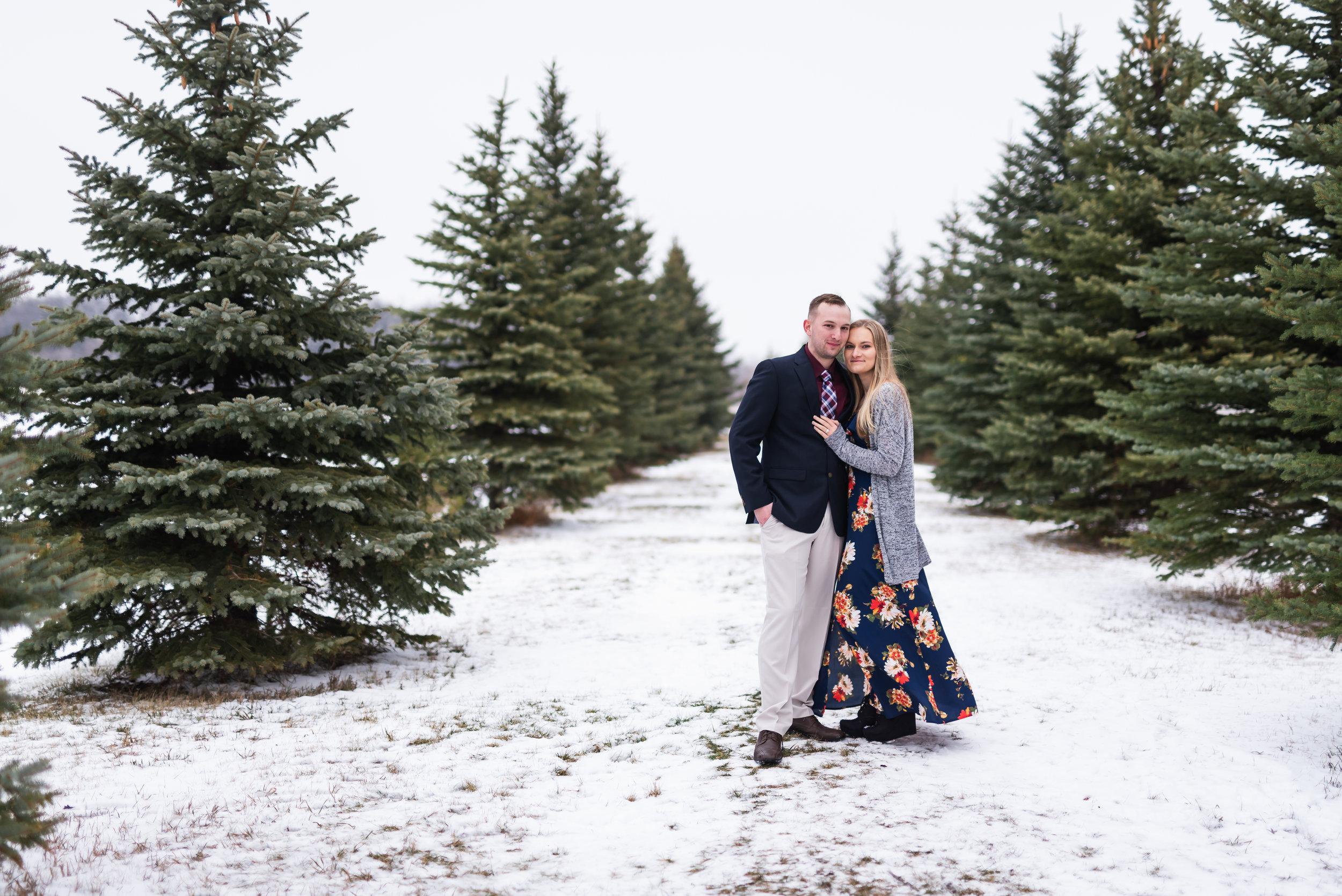 Fargo Winter Engagement Photos - Chelsea Joy Photography - Fargo Wedding Photographer