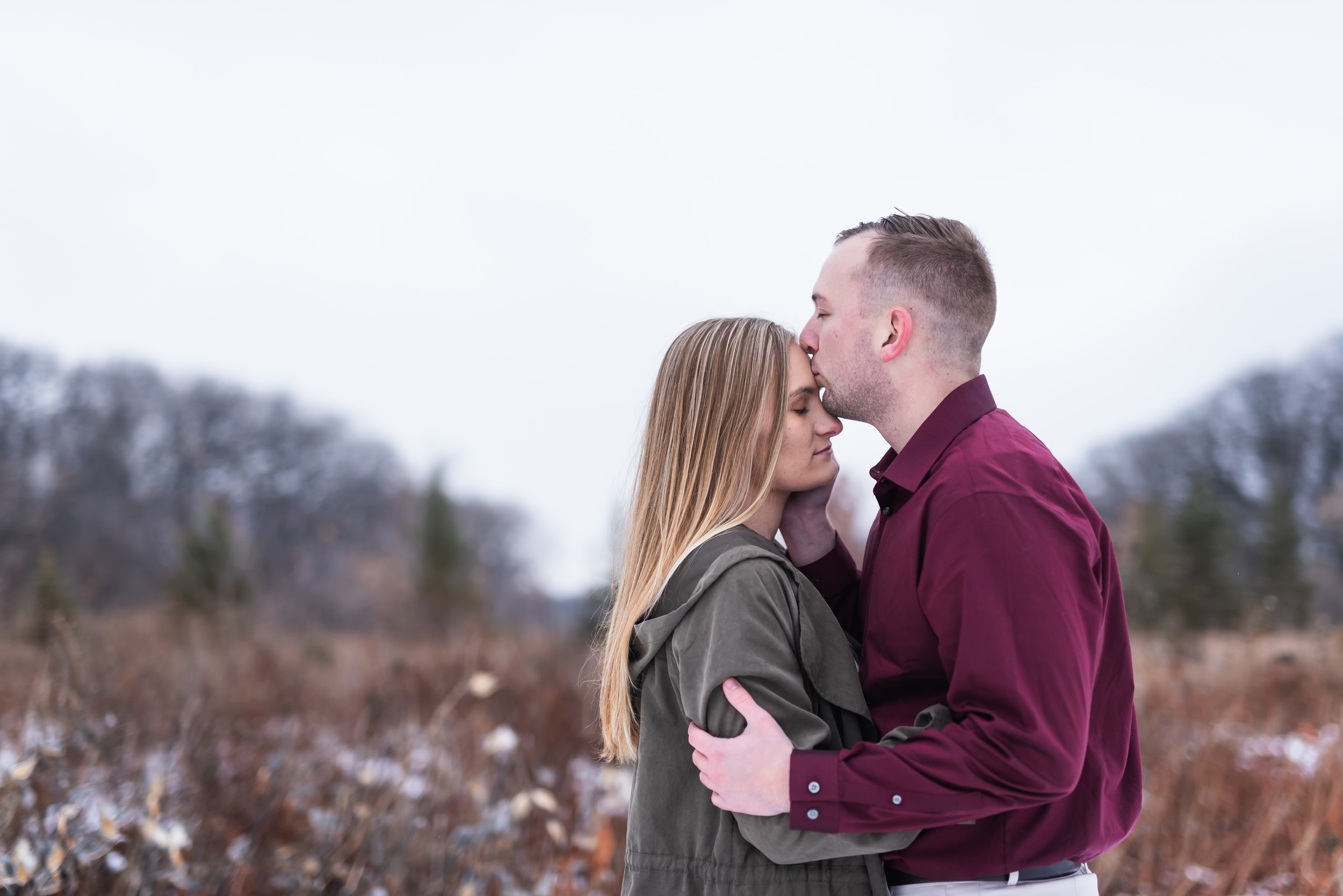 Fargo Winter Engagement Photos - Chelsea Joy Photography - Fargo Wedding Photographer