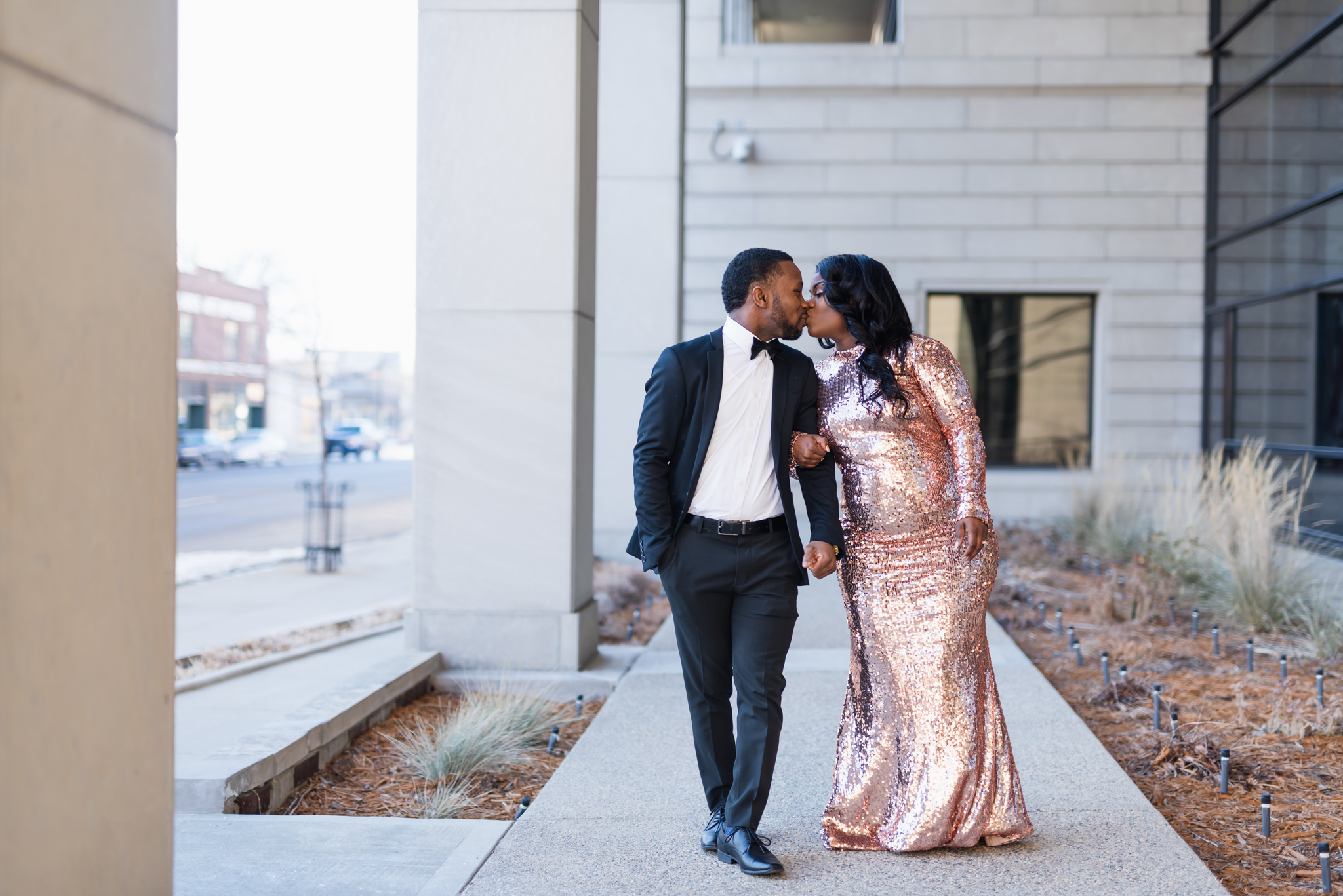 Downtown Fargo Winter Engagement Session | Fargo Wedding Photography