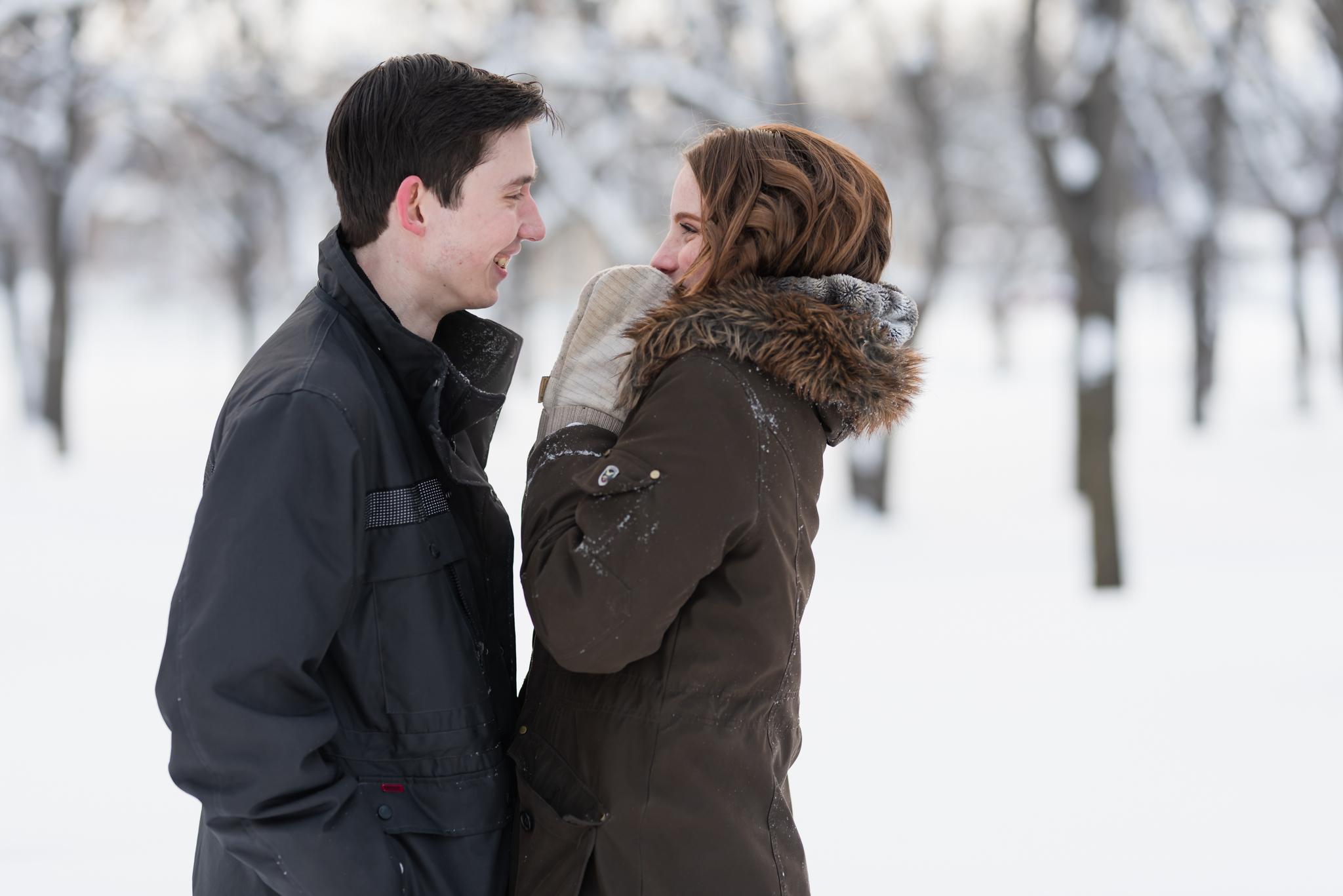 Fargo ND Winter Engagement Photos | Fargo Wedding Photographer