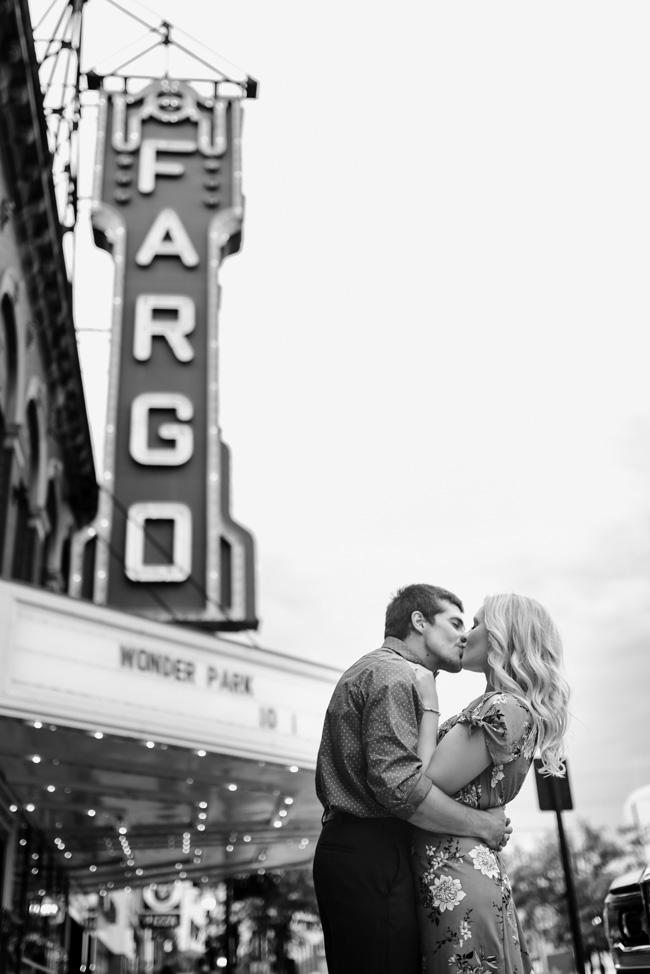 Downtown Fargo Engagement Pictures | Fargo Wedding Photographer