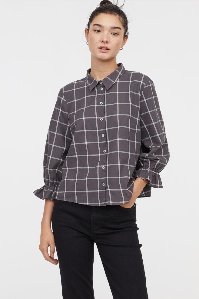 H&M - Check blouse