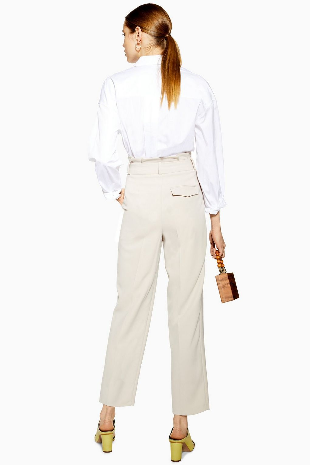 Topshop - Paperbag tapered trousers