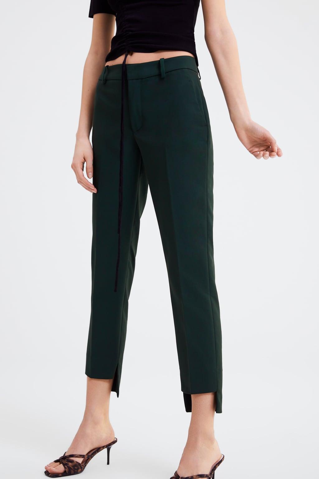 Zara - Straight leg pants with asymmetric hem