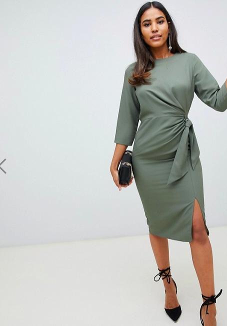 ASOS Design - Midi wrap dress