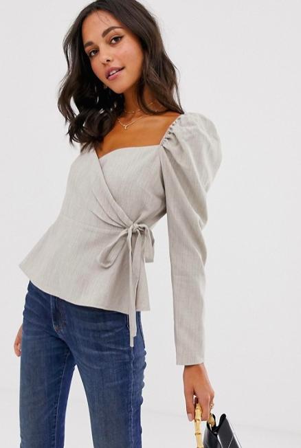 ASOS - Long-sleeve wrap top