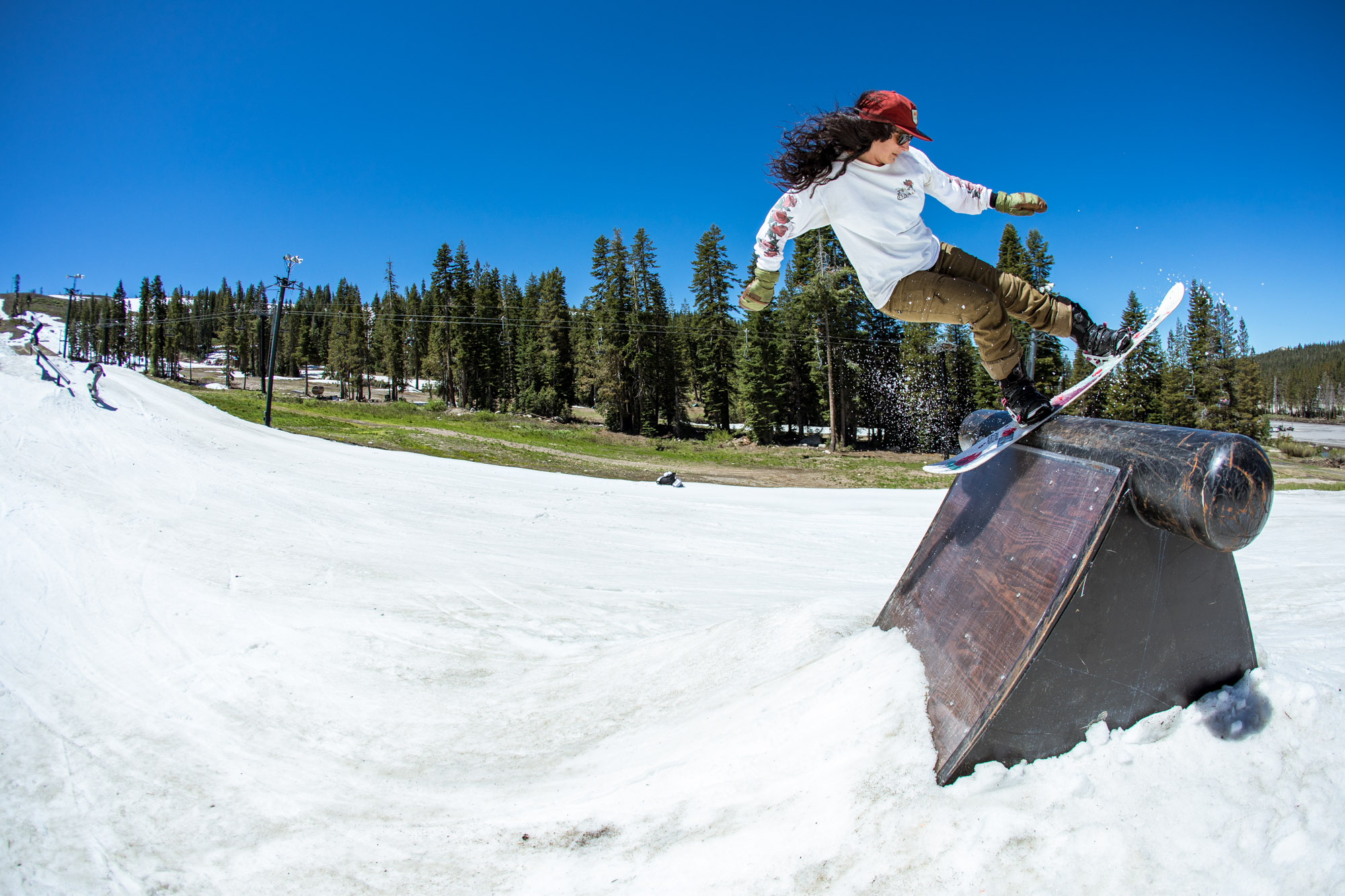 Coach Fancy Rutherford, summertime stall at Woodward Tahoe.