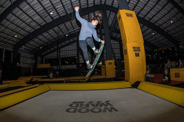 #BTBounds at @borealmtn starts tonight with a session in the @woodwardtahoe Bunker! #WoodwardTahoe coaches will be on hand to teach progressions on the floor, trampolines, and foam pits to add to muscle memory before even hitting the snow tomorrow. #snowboardcamp #trampolines #tahoe