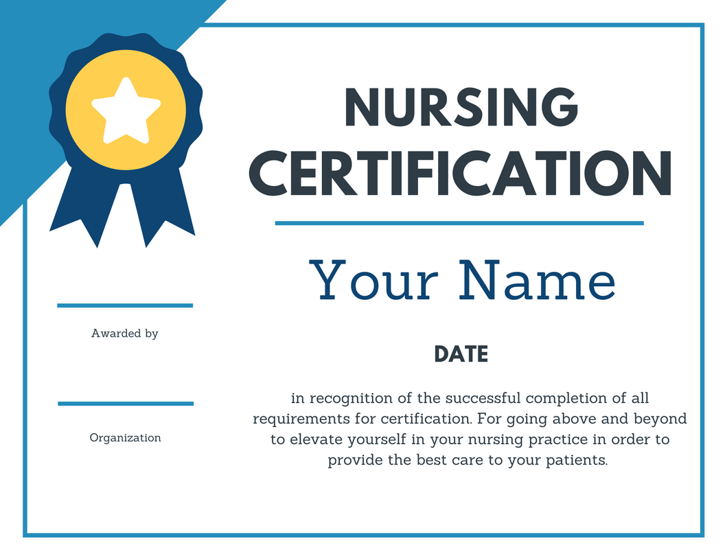 nursing certification