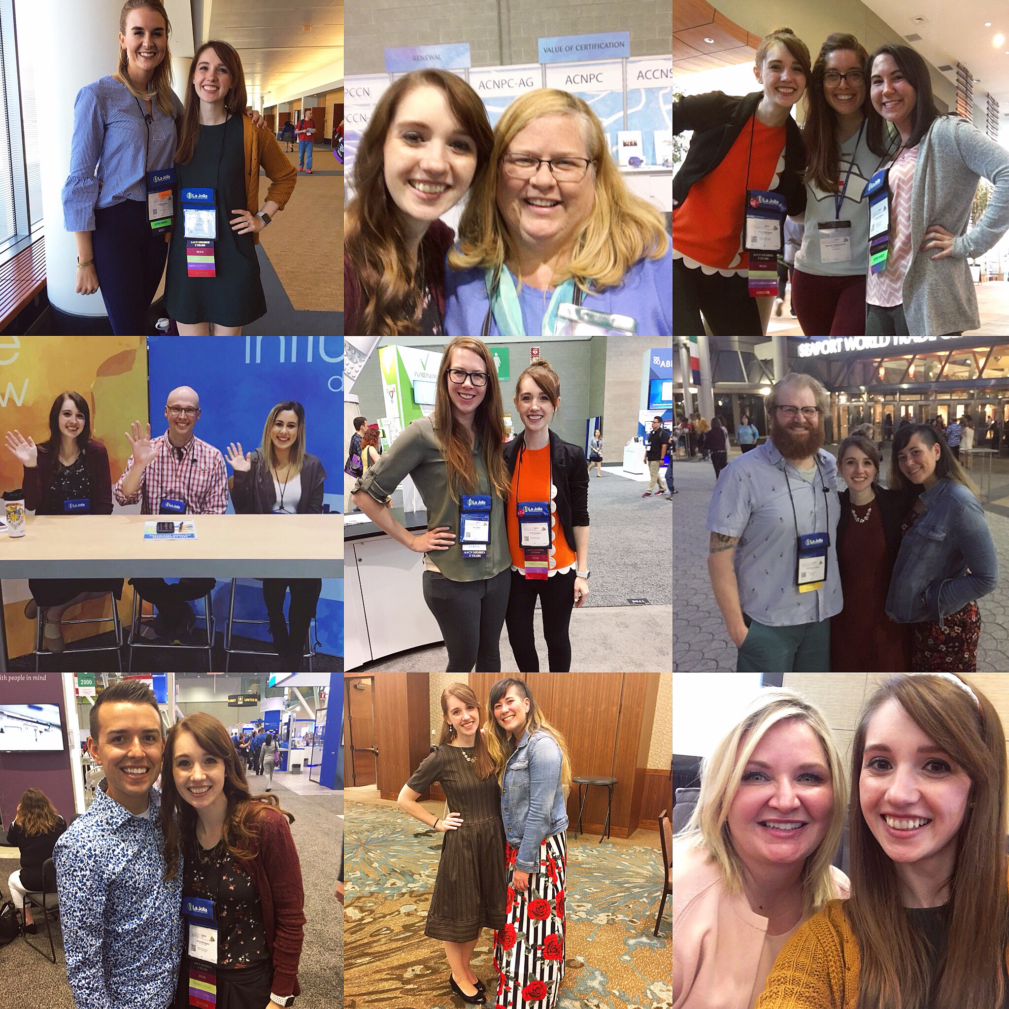 Danielle  @nurseabnormalities , Cindi with the AACN Certification Crew, Rachel  @thenursetribe , Jasmine  @jasminestarr05 , Jon  @technursejon , Marissa  @lipstickandlifesaving , Kati Kleber  @kati_kleber , Christiaan  @redbearrn , Blake  @nurse.blake , Fiona  @abstrctevlbrbie , Nicole  @nicolekupchik .