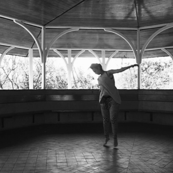 solo practice, indoor-outdoor in the rotunda at the Royal Botanic Gardens