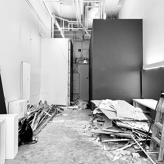 DEMOLITION | The construction phase that takes down what was and creates space for endless possibilities. Look out for progress posts and stories from our new hair salon project that will be opening in late Summer 2019.