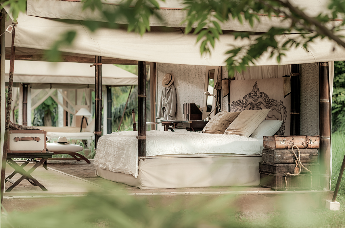 On Safari - Escape Nomade is based on British Campaign and Safari style furniture.Our signature tent style is all about timeless mobility and multi-functionality.