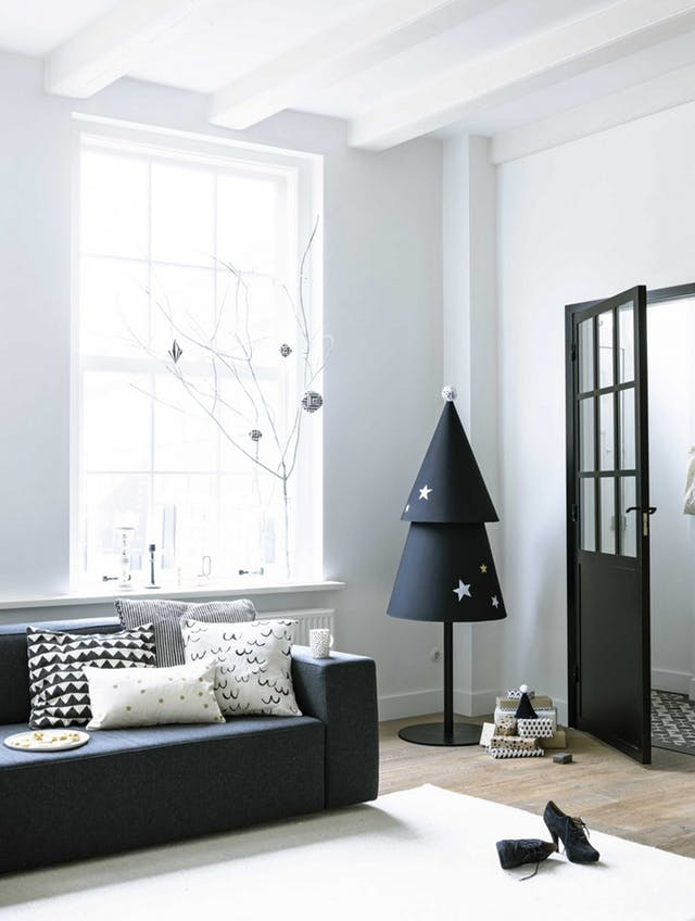 D.I.Y Tree. - Make yourself a Paper Cone Tree using black card!