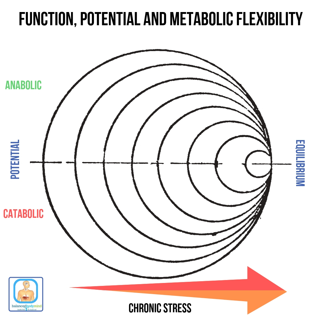 - A foundation of good health is built upon biological flexibility, potential and far away from equilibrium states.
