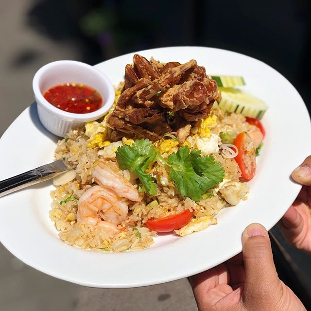 One and only @topthai_greenwich  Chef section special of the week - crab meat shrimp 🍤 and soft shell crab 🦀 fried rice 🍚  we made the dish unique with love @topthai_greenwich . Folks get ready for this ? Don't forget to ask this item when you dine in. Limited quantity with high quality food. . Who doesn't like good food. Let alone excellent food @topthai_greenwich  #abc  #topthai  #topthainyc  #topthaifood  #topthaidrink  #topthaigreenwich  #topthaigreenwich  #thaifoodstagram  #thaifood #steak  #likes #like4like #likeforlike #like4follow #likeforlikes #followme #following #follow4follow #followforfollow #like#food #foodie #food52 #foodporn ##foodblog #likeforfollow #likeforlikes #like4follow #halalfood #certifiedhalal #steak #tgif