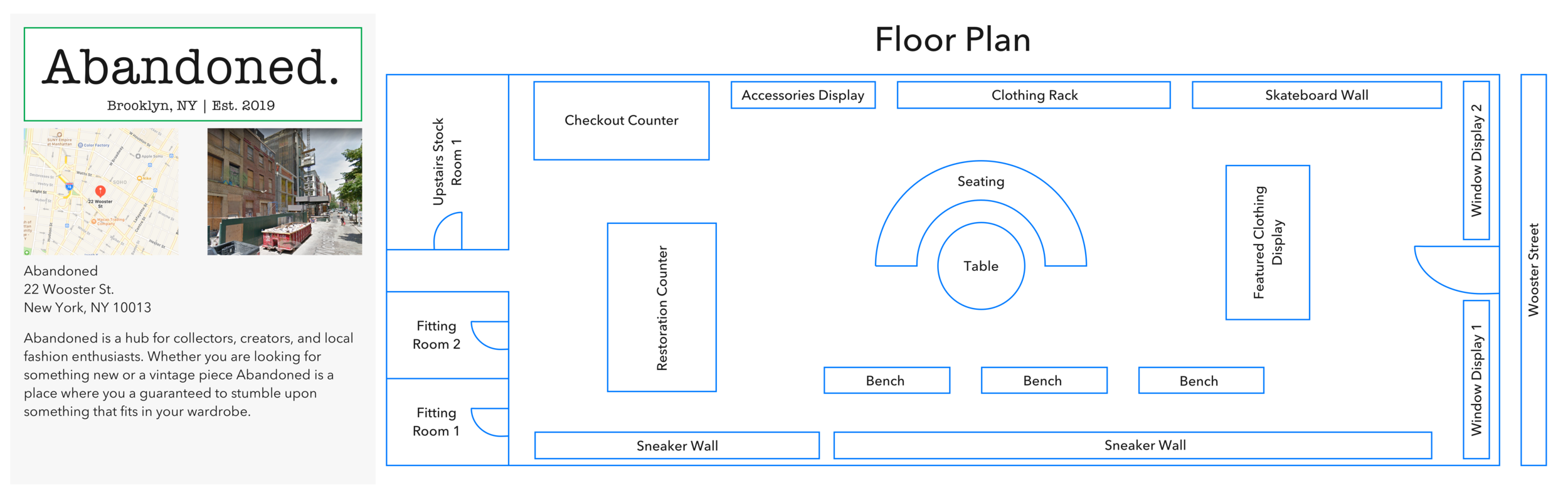 Boutique Floorpan