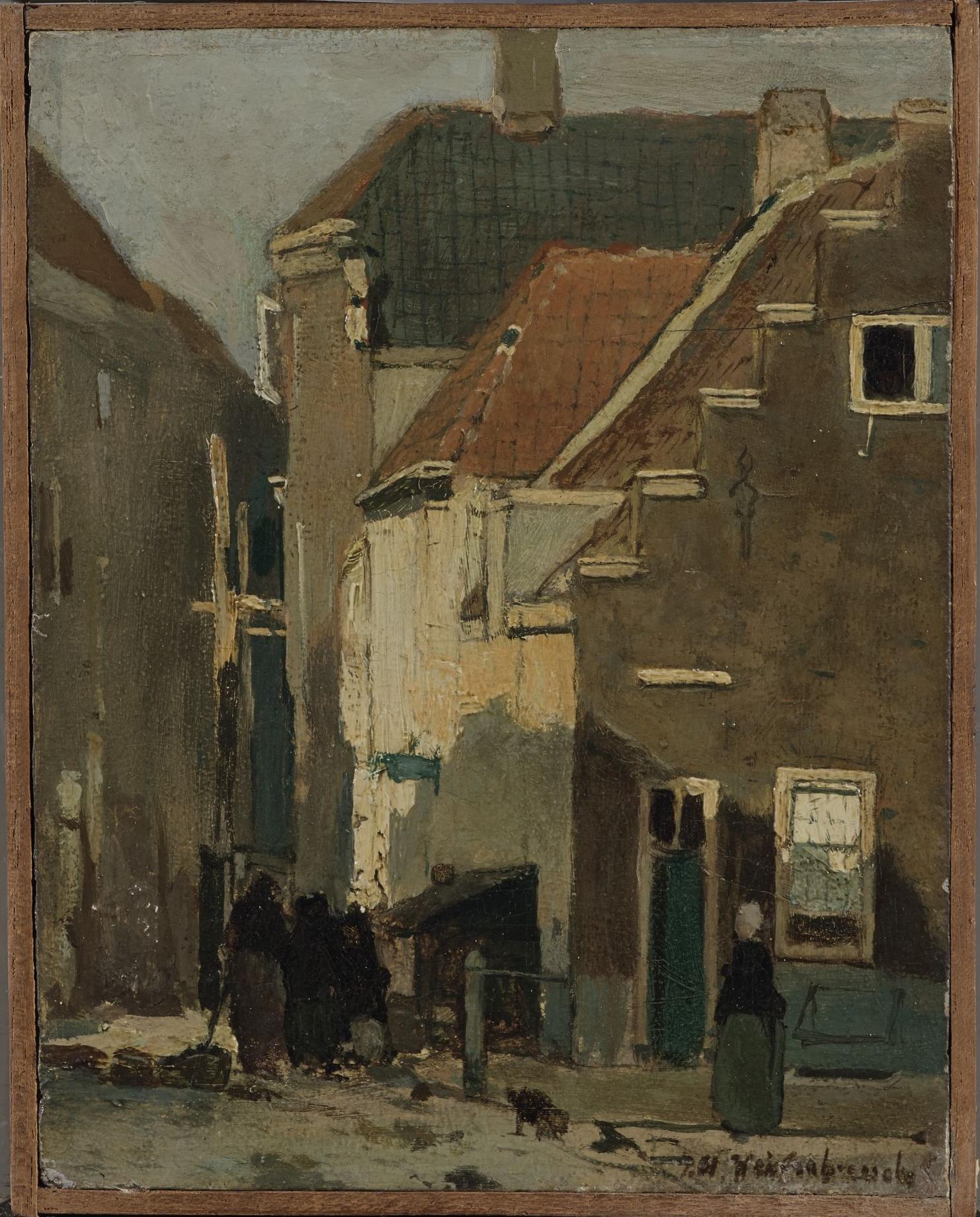 Kazernestraat in Den Haag  voor restauratie in daglicht