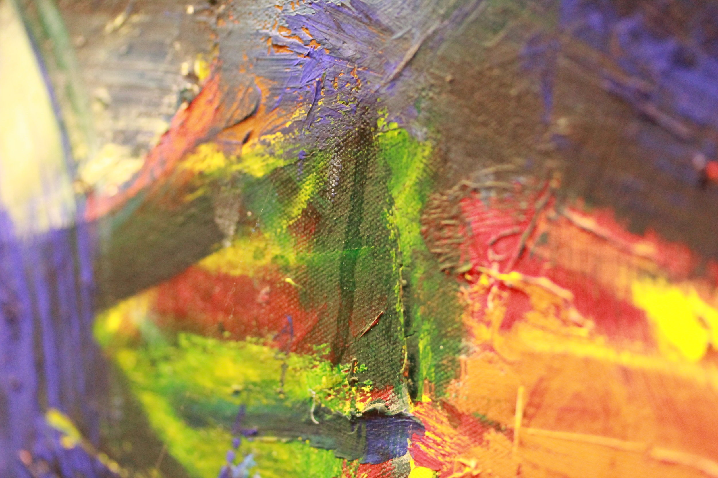Detail transparant exudaat.  L'ecume d'une nouvelle vague , Asger Jorn, 1963-70, in collectie Museum Jorn 1973-0401