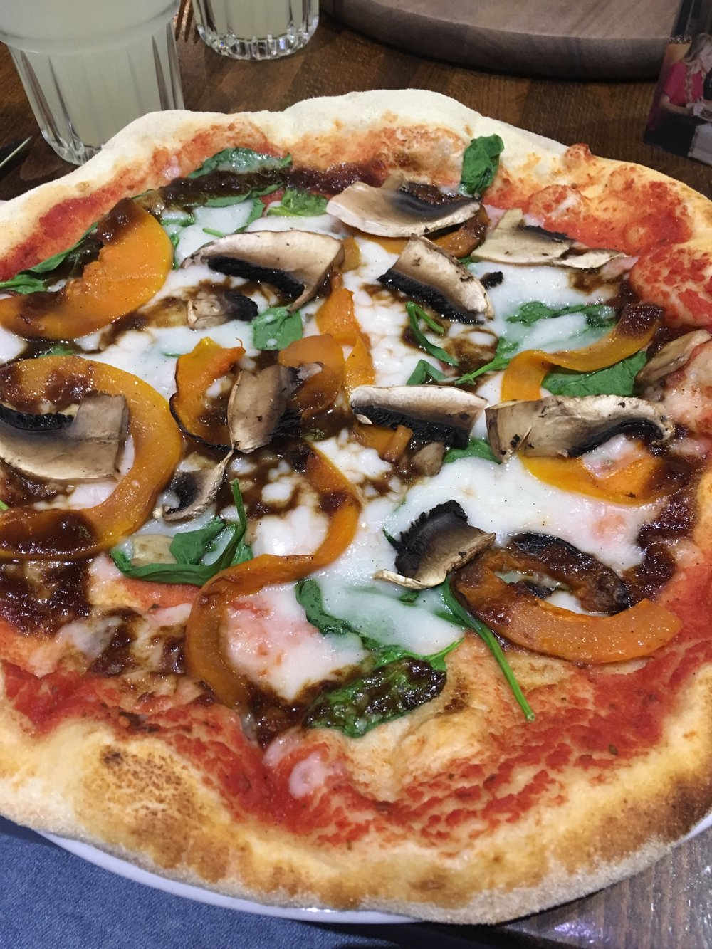 vegan pizza at zizzi