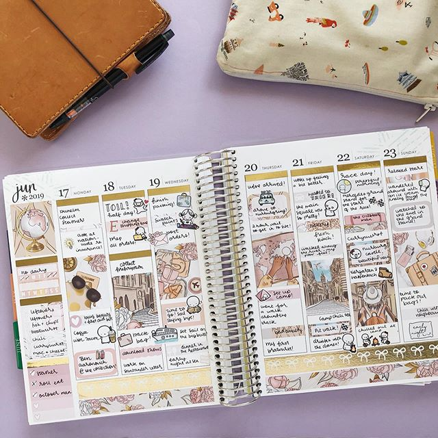I finally got round to planning my holiday in my memory planning @erincondren planner last week! It feels like it was so long ago and yet like it was just yesterday! Love using this kit from @harrietwrightdesigns that I picked up at @plannerfest too, it was perfect!  #Plannergirl #planneraddict #plannersupplies #plannercommunity #plannerstickers #planner #plannergoodies #eclp #erincondren #erincondrenlifeplanner #plannerobsessed #weloveec #lifeplanner #stationery #plannernerd #plannerjunkie #stickeraddict #happymail #etsystickers #etsy #stationeryaddict #stationerylove