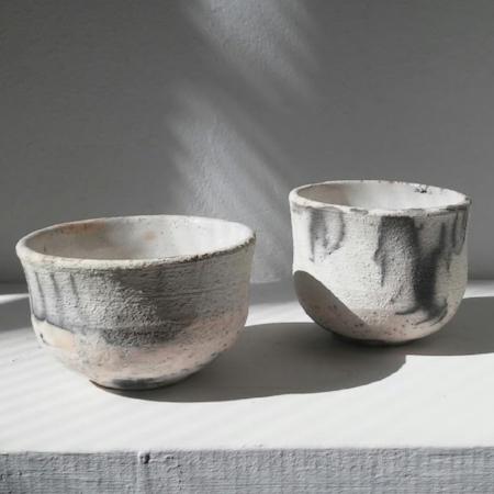 Naked raku cups