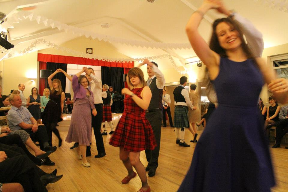 Sarah dancing a ceilidh