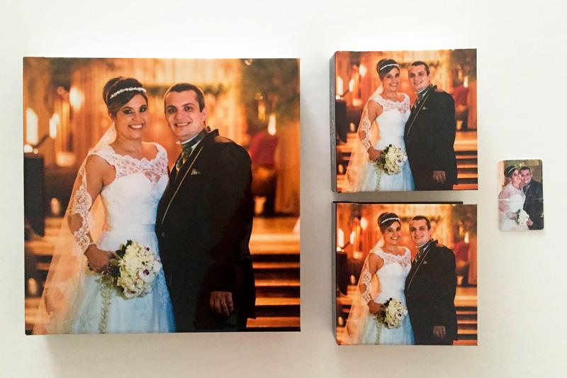 Álbum do casamento, mini álbuns e pendrive personalizado
