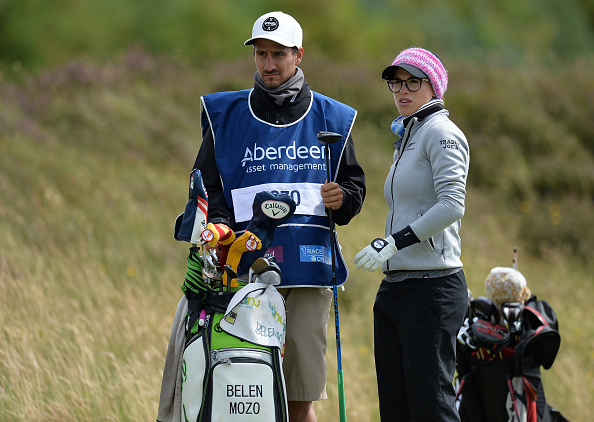 Carlos Lopez (Spain) and I playing in Dundonald Links in Scotland this year for the Scottish Open.