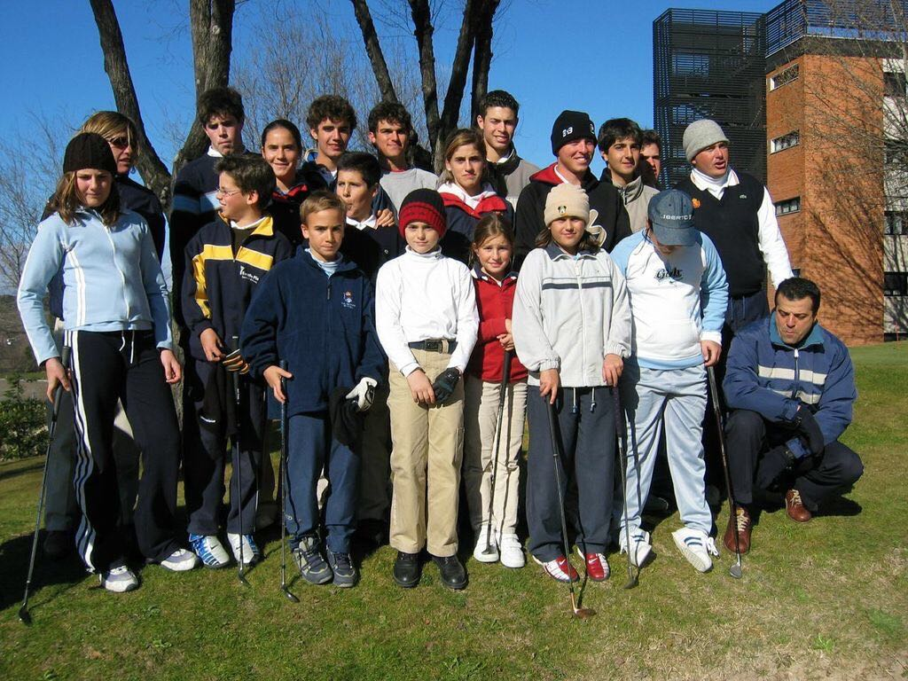 This is the majority of my teammates and the younger generation in our boarding school Centro de Alto Rendimiento, La Blume, in Madrid. Year… I can't even remember. You probably recognize a few faces in this photo: Who can spot another Spanish LPGA star in this photo? There is also another very good player on European Tour — his name is Nacho Elvira. Not sure if you can recognize him, he is the second from the left in the back row. And, can you find me??