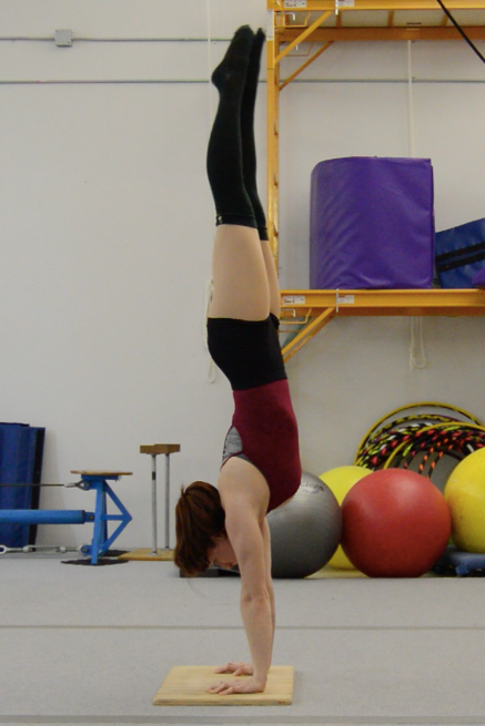 I don't have any recent pictures of my handstand at Circadium, so here is one from the beginning of my audition process in December. I'll have to get some recent handstand pictures and compare them soon!