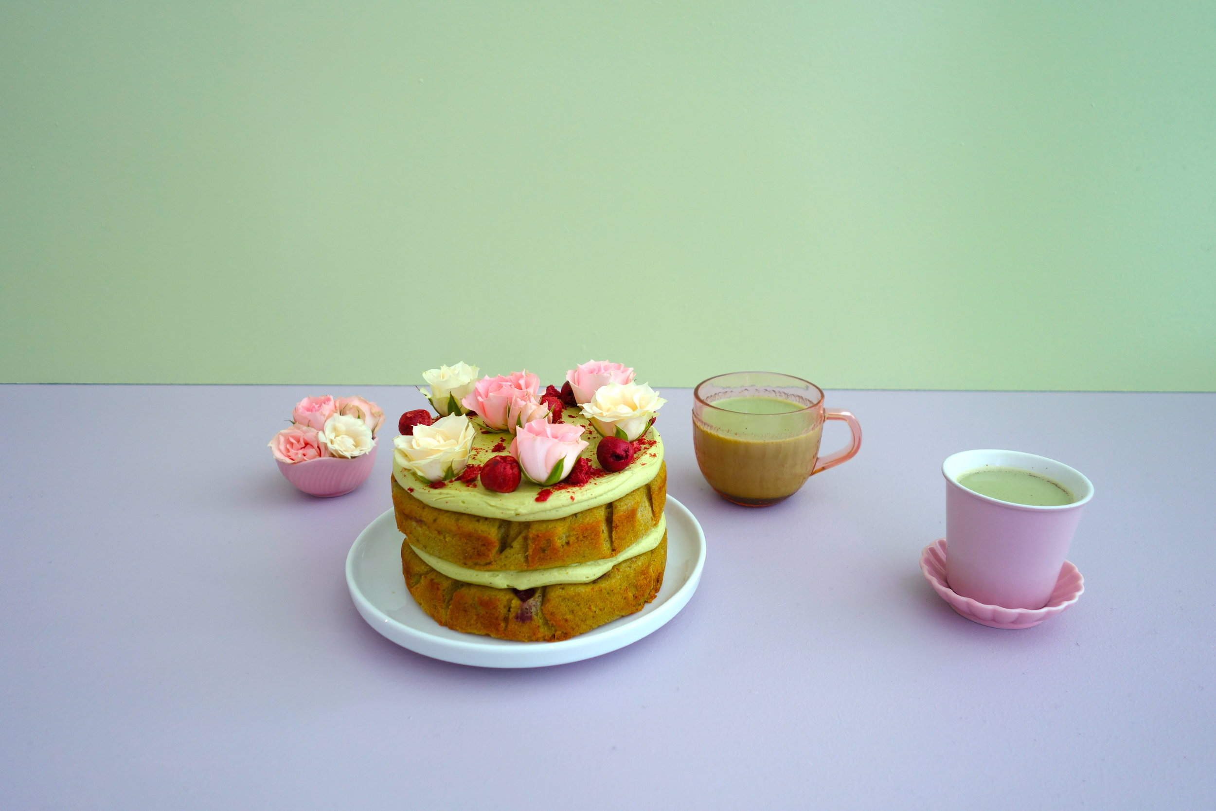 Little Matcha and Cherry Cakes The Caker