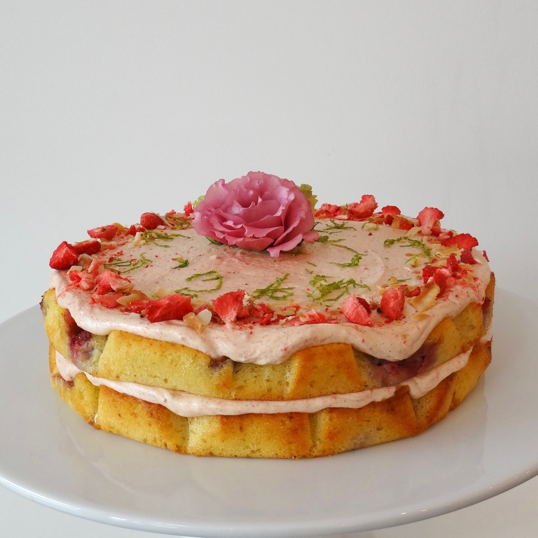 Strawberry Coconut and Lime Cake The Caker