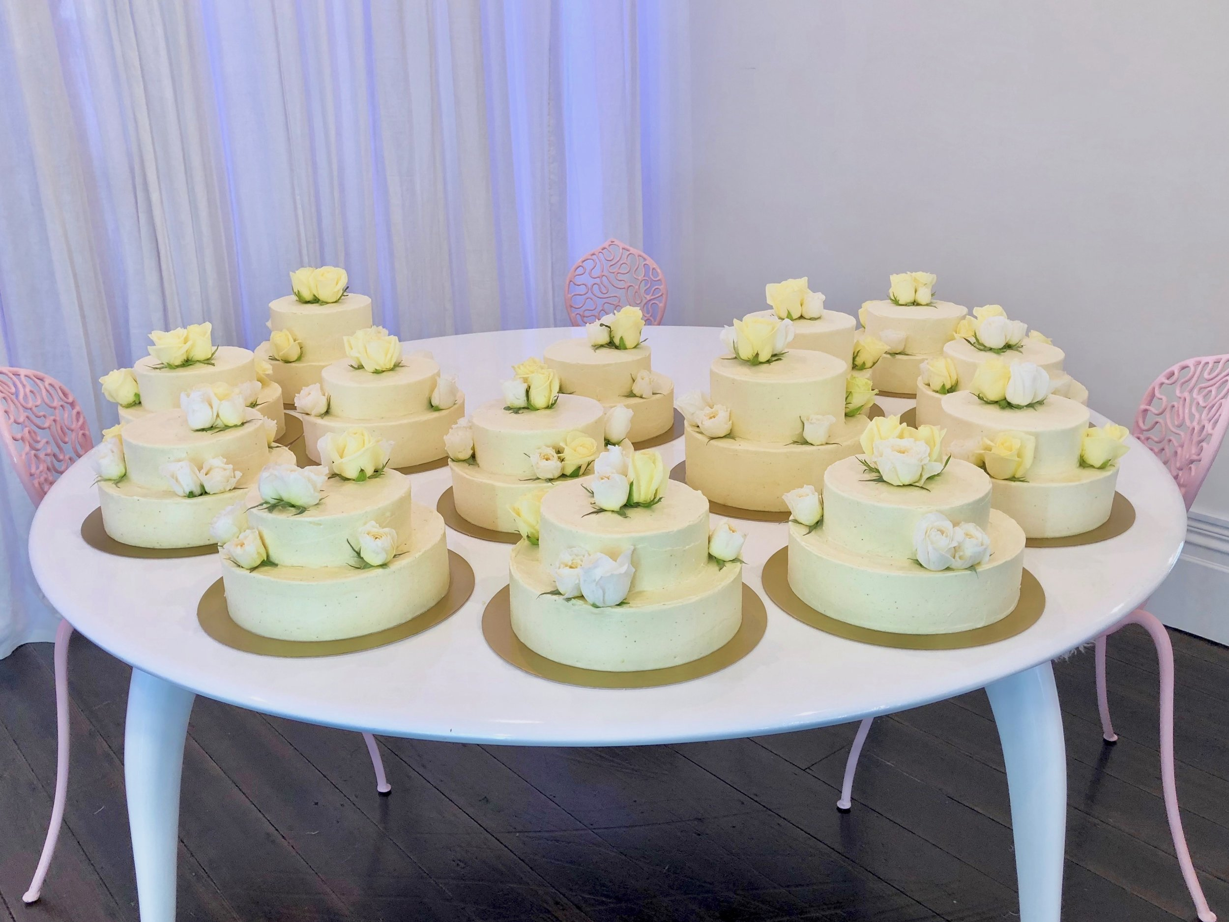 Just some of the wedding cakes we created.