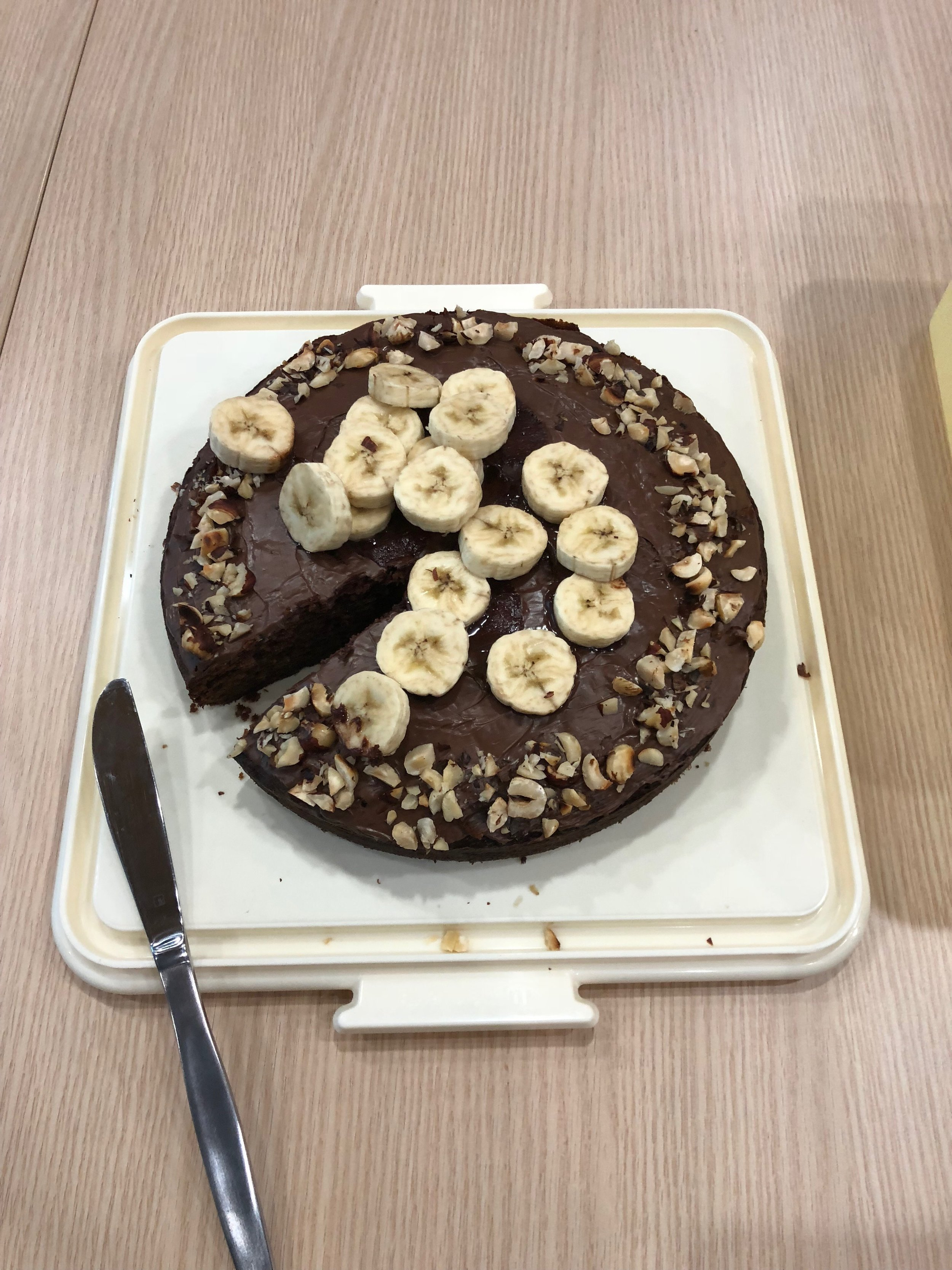 Nutella and Banana cake from  45 New and Unusual Cake Recipes