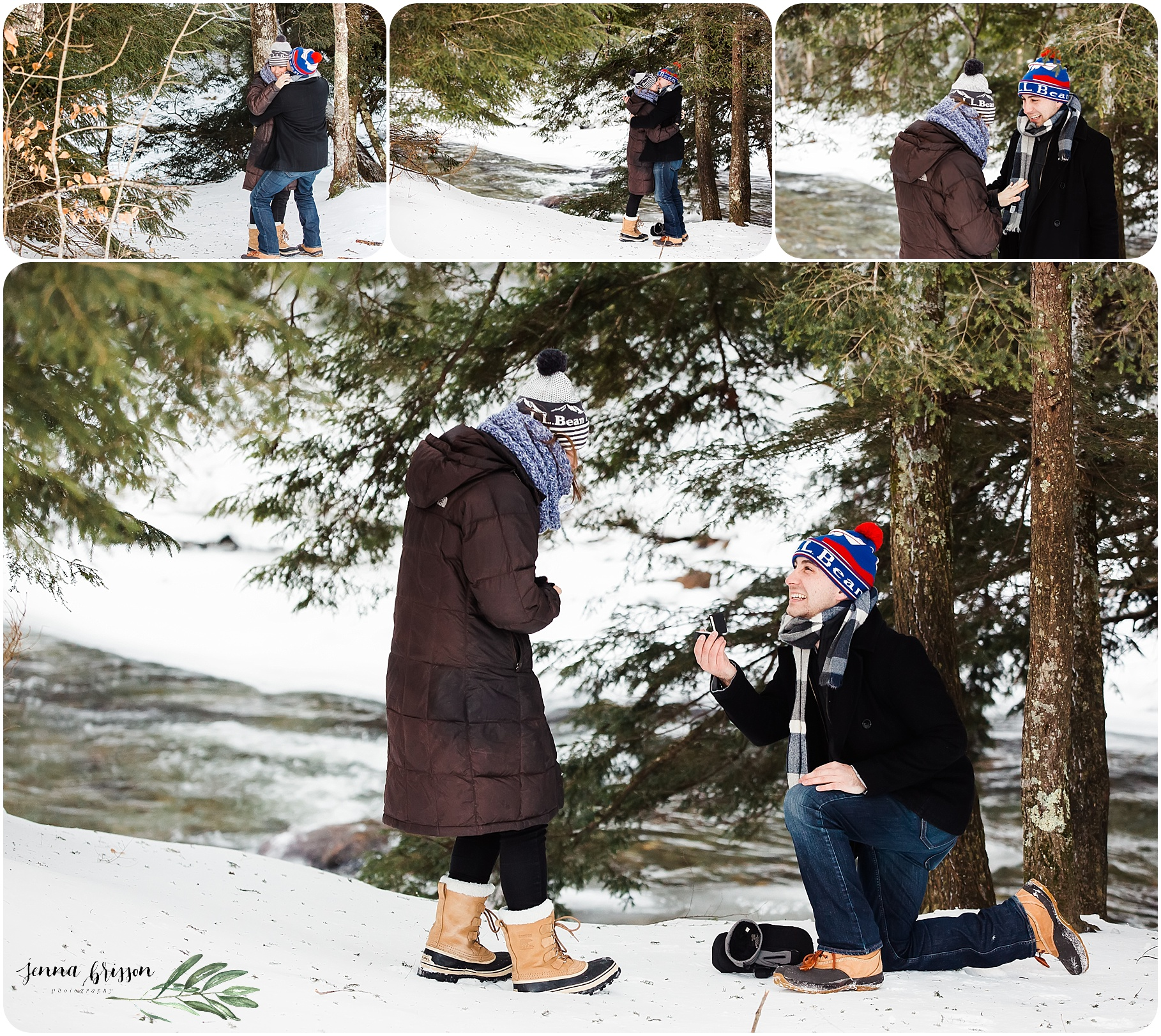 Proposal Photography Session - Stowe, Vermont - Jenna Brisson Photography