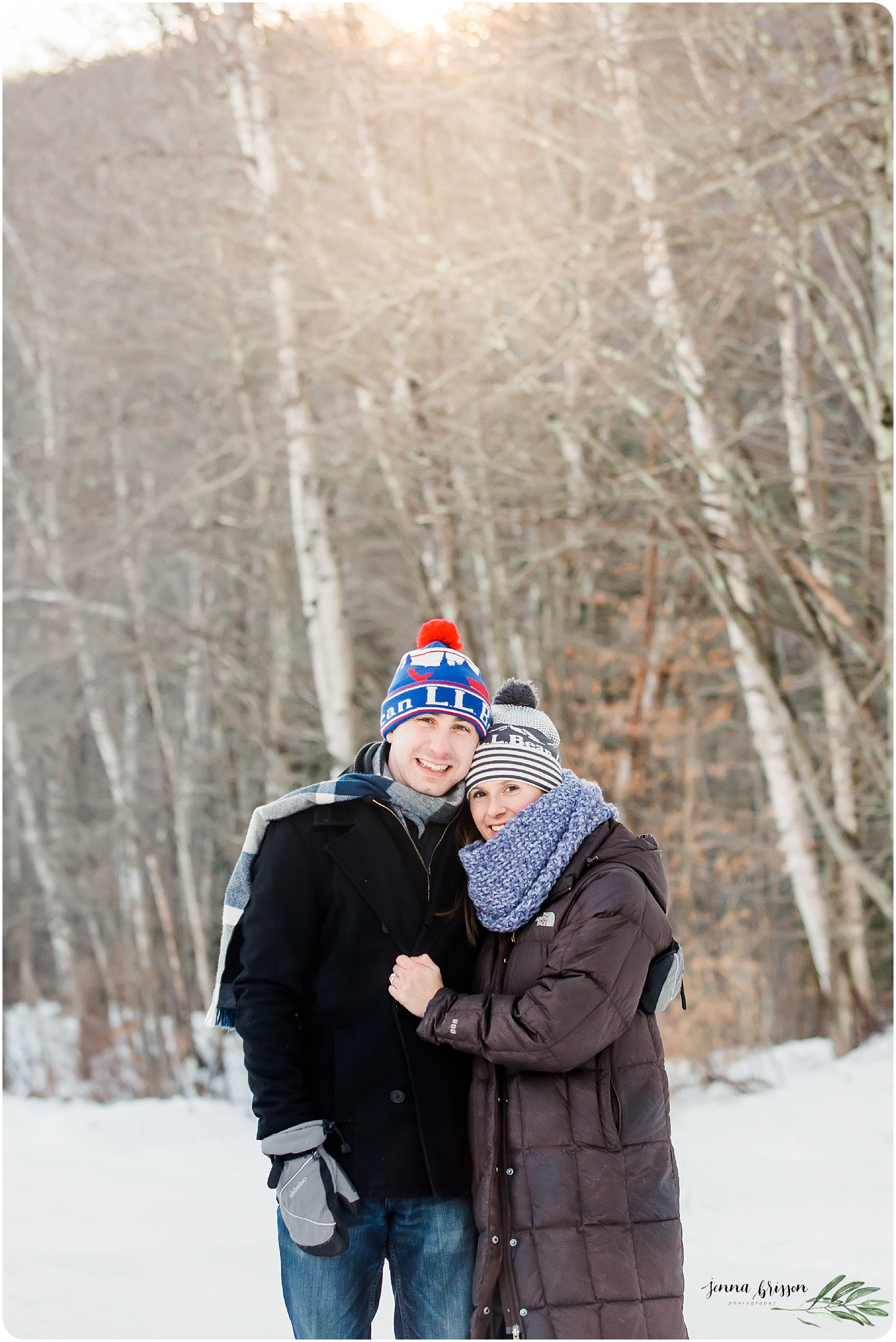 Vermont Winter Proposal Session - Jenna Brisson Photography