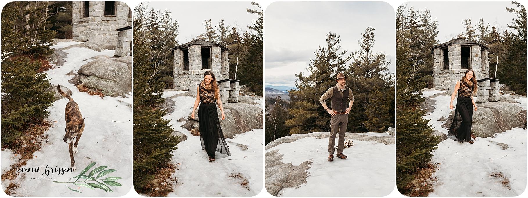 Vermont Mountain Elopement First Look