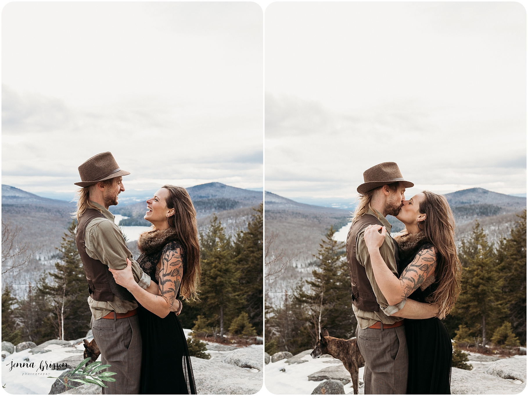 Romantic Outdoor Rustic Bohemian Vermont Wedding