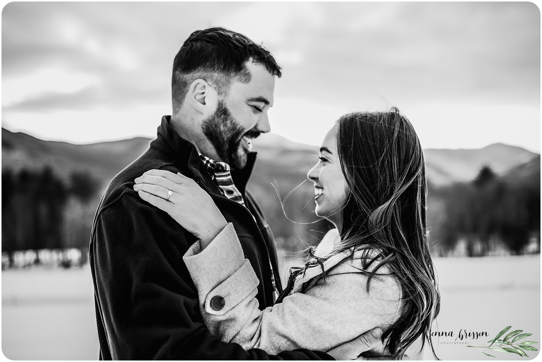 Romantic Vermont Engagement Session - Vermont Engagement Photographer