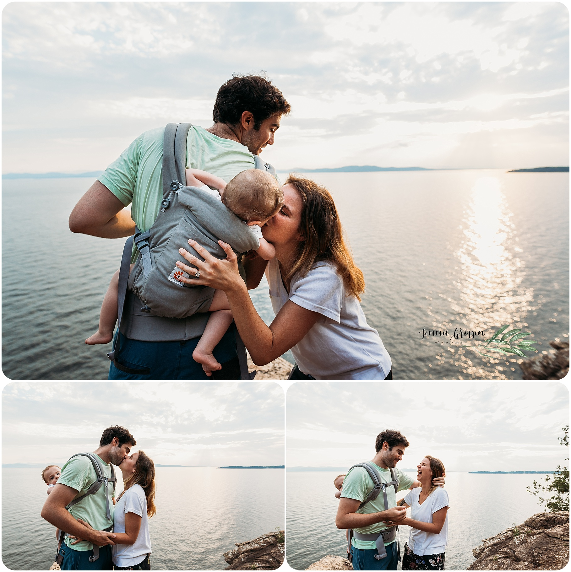 Lone Rock Point Proposal Burlington Vermont Jenna Brisson Photography
