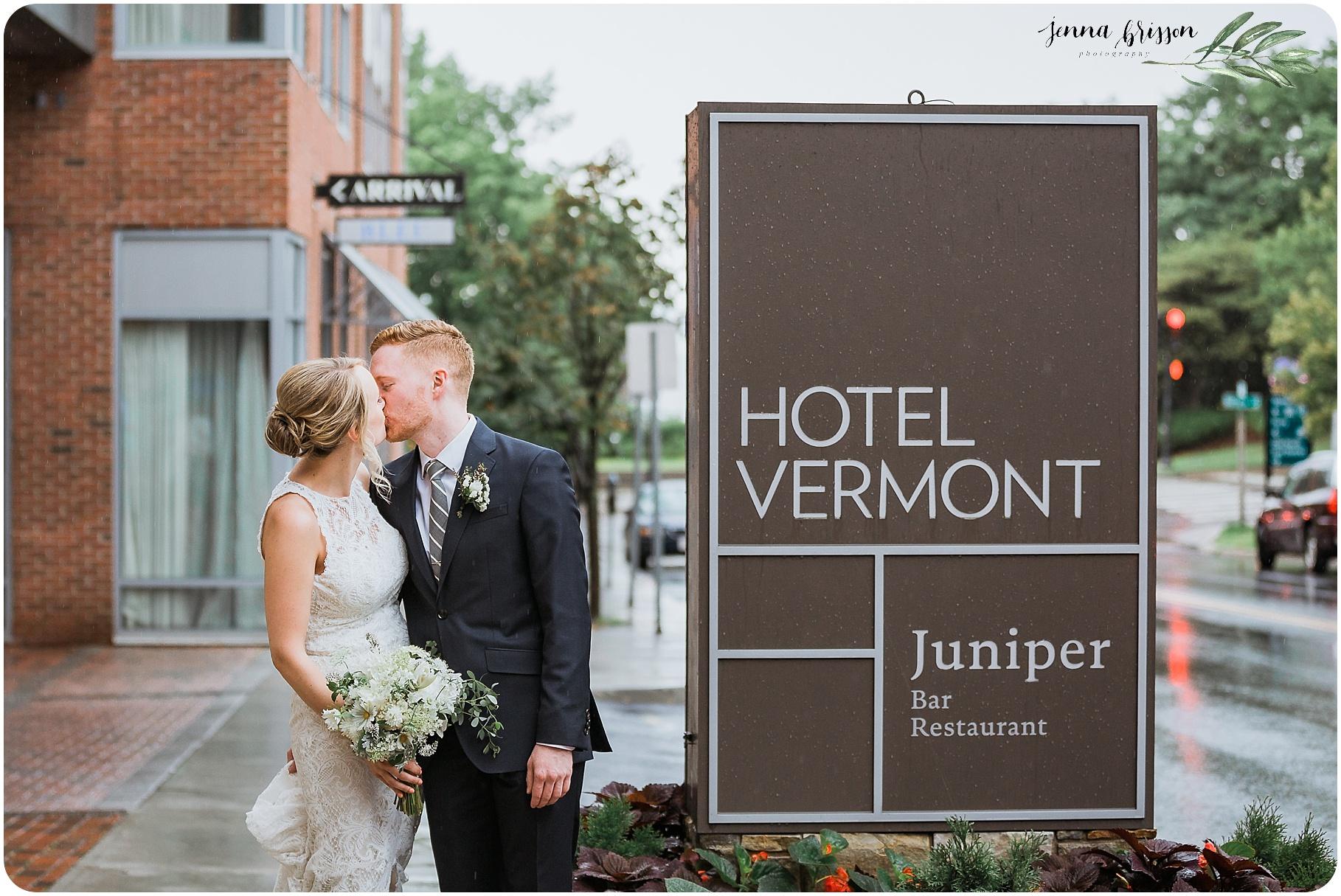 Hotel Vermont Wedding Portrait