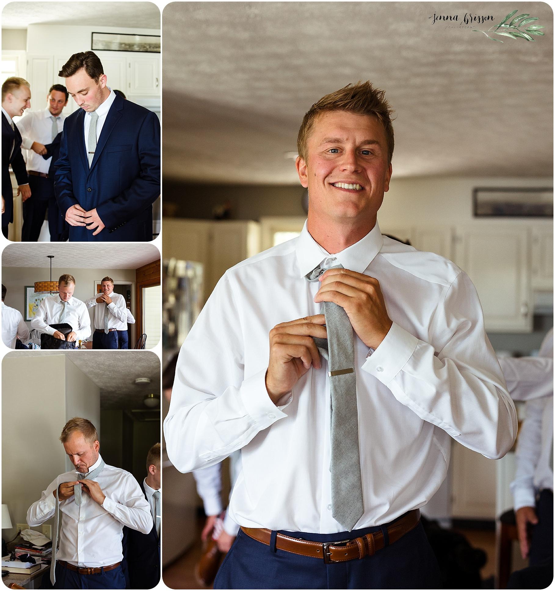 Groom Getting Ready - Vermont Wedding Photographer Jenna Brisson