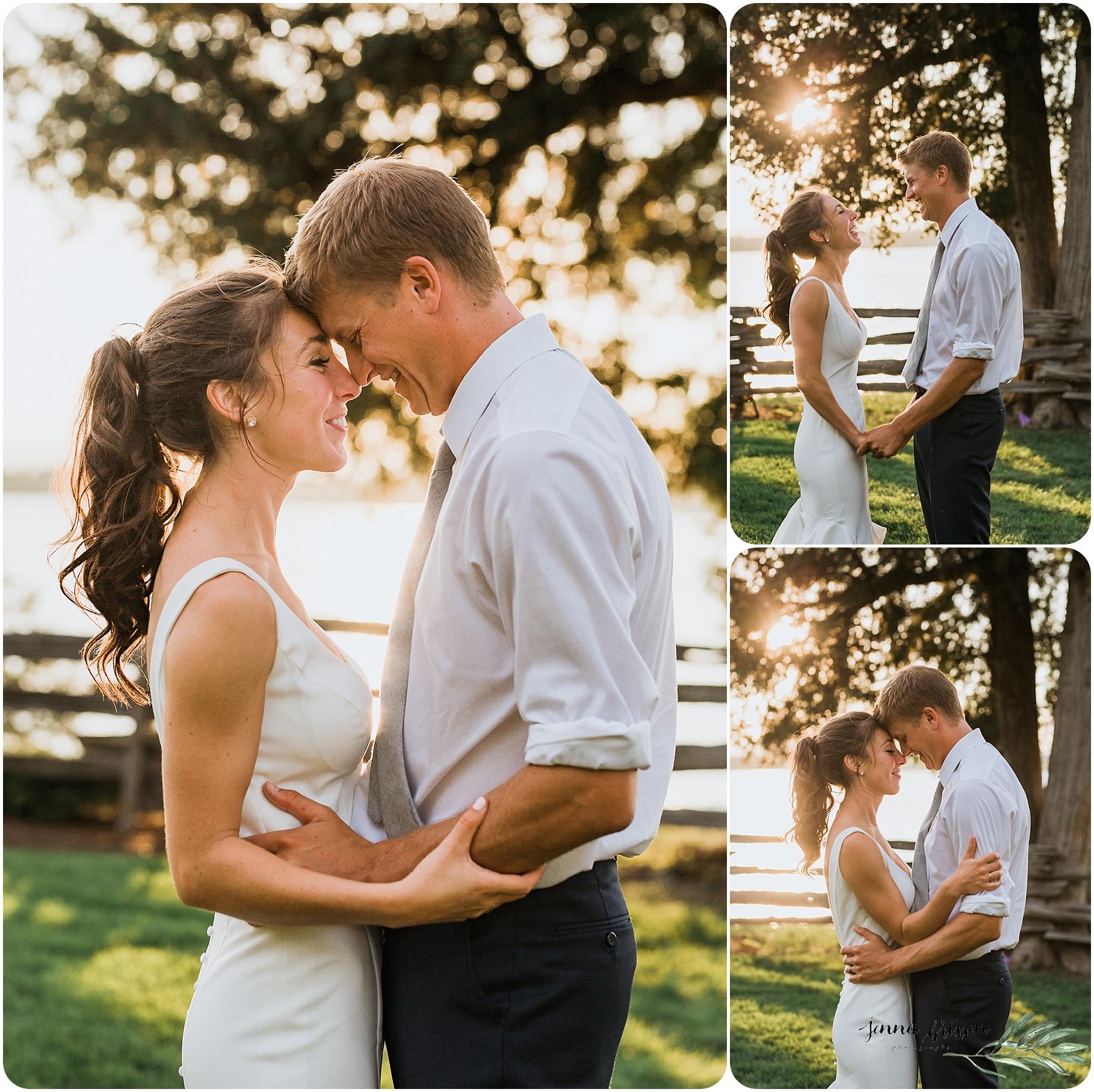 Vermont Sunset Wedding Portrait - Jenna Brisson Photography