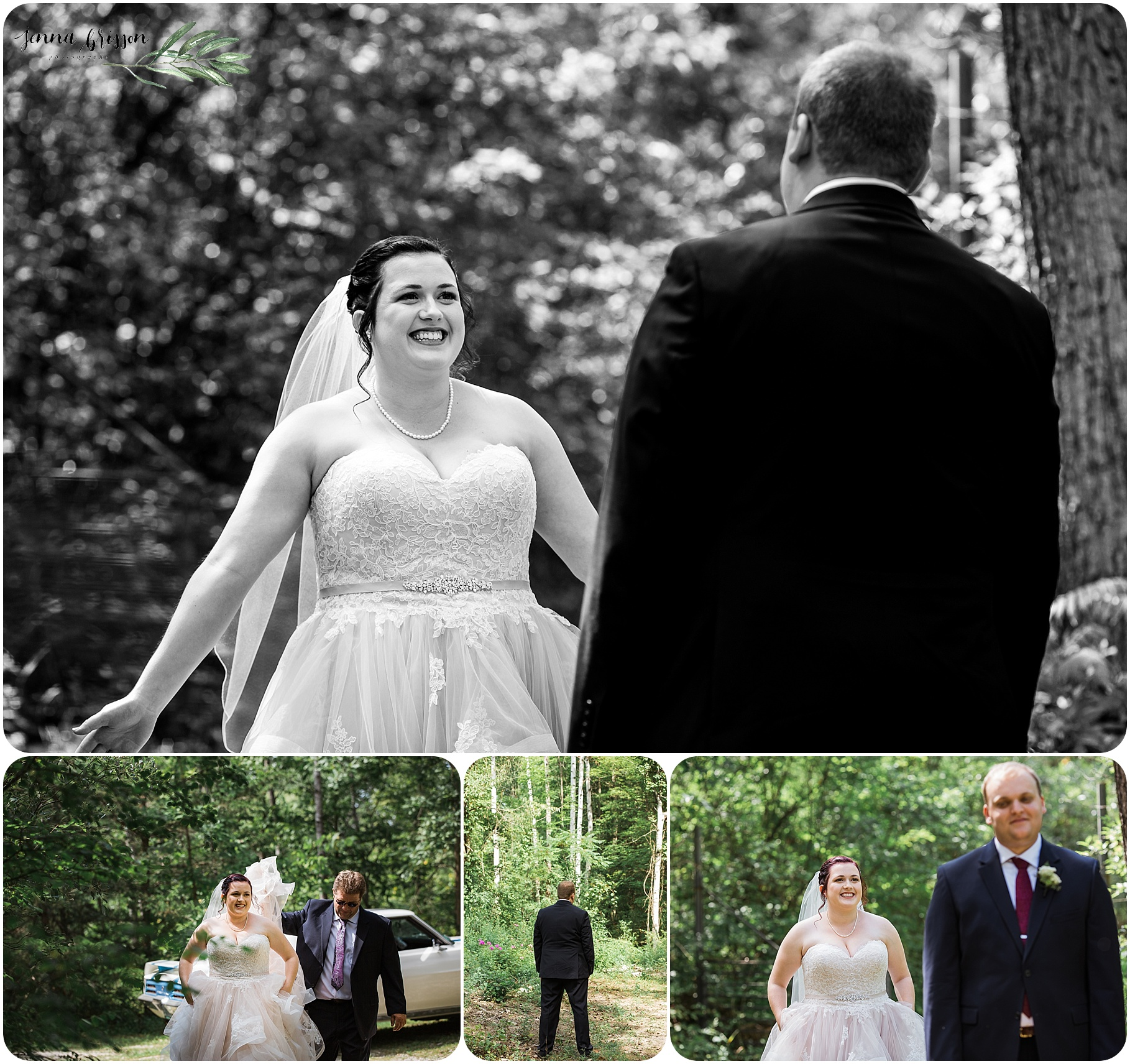 First Look - Vermont Wedding Photography