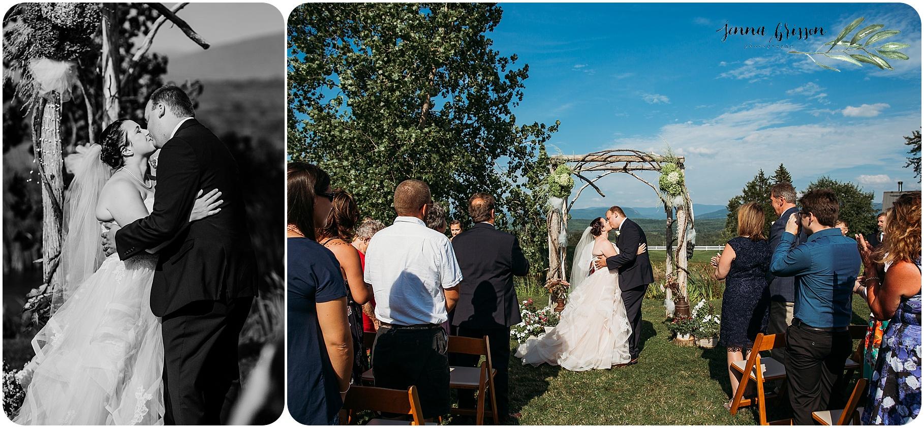 The First Kiss Vermont Wedding - Jenna Brisson