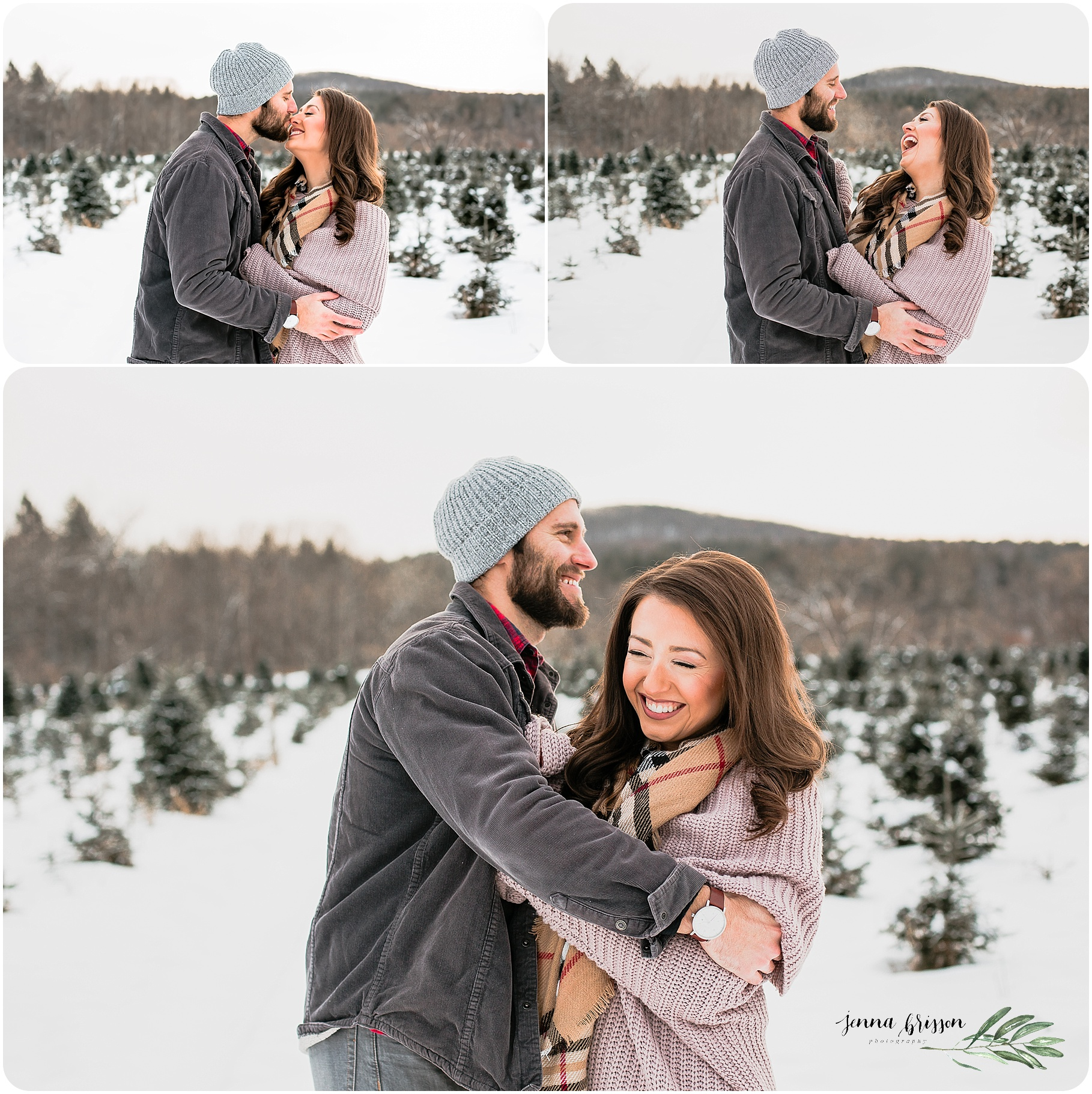 Vermont Winter Couple Photography Session