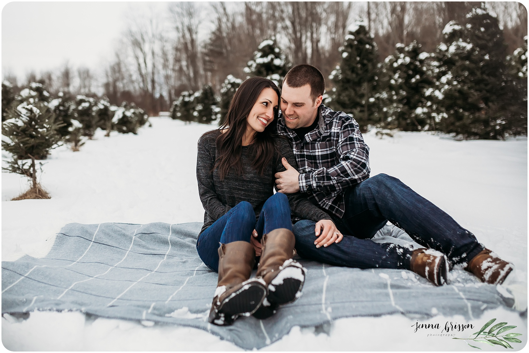 Christmas Tree Couple Session Photography