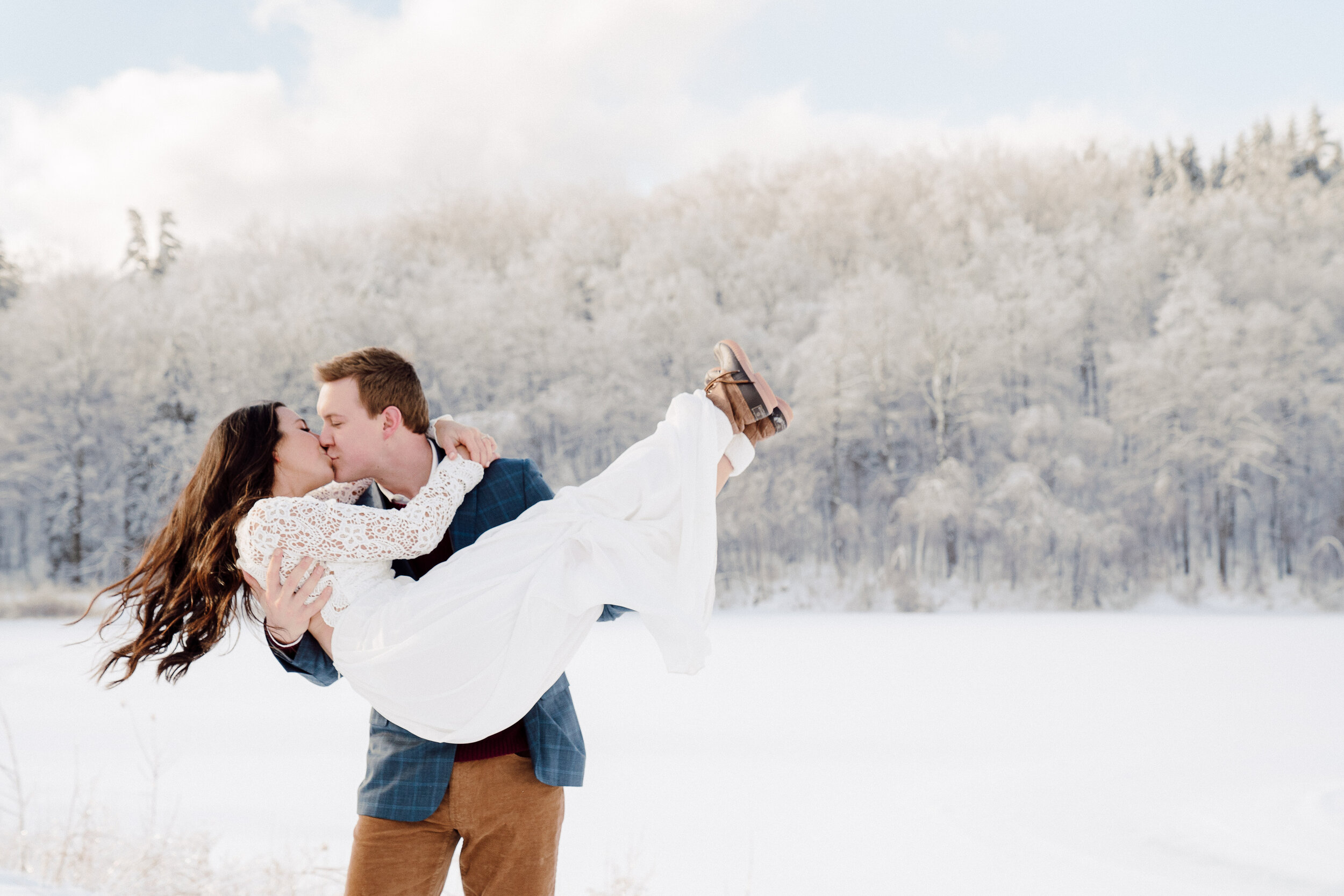 Winter Elopement Twin Farms Vermont